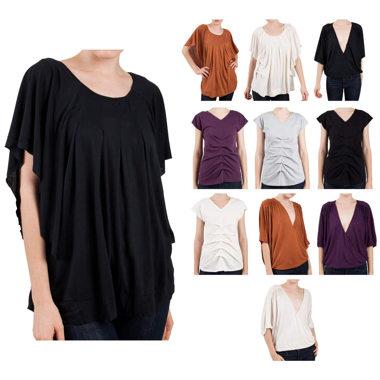 Women's Tunic Style Viscose Blouse (various) 3 for $8 ($2.67 each) + free shipping