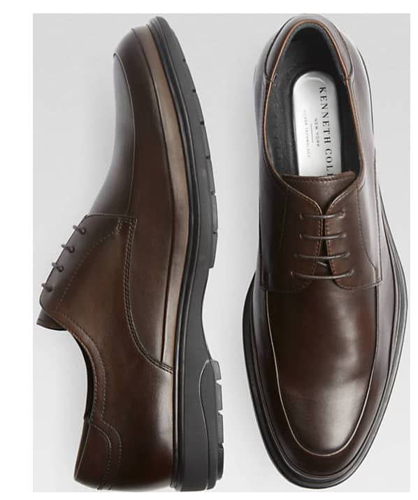 Kenneth Cole Pyra-Mid Brown Leather Lace-Up Shoes $28 + free shipping