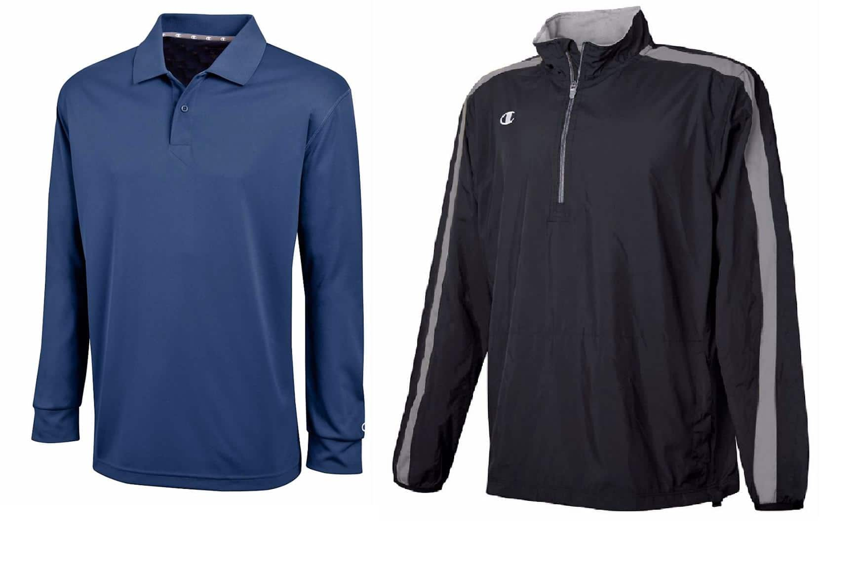 Champion Men's Ultimate Long Sleeve Polo + Quarter Zip Athletic Pullover Shirt $20 + free shipping (new without tags)