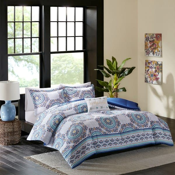 4-Pc Nikki Comforter Set (queen) $23, 5-Pc Home Essence Taza Comforter Set $30, More + $6 shipping or free ship on $75