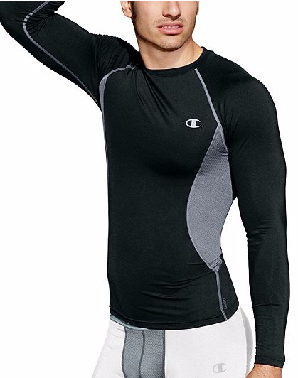 Champion Outlet Apparel B1G1 Free: Men's Compression Long or Short Sleeve Tee 2 for $10 ($5 each), Women's Jersey V-Neck Tee 2 for $6 ($3 each), More + free shipping