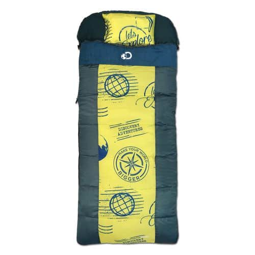 Discovery Adventures Kids' Coolvent Sleeping Bag $6.75 + free shipping (green/blue)