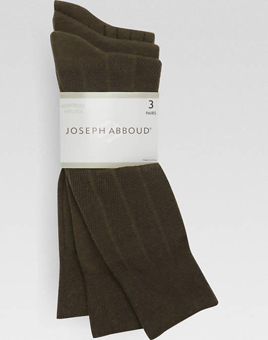 3-Pack Joseph Abboud Reg or Extended Size Men's Dress Socks (olive) $3 + free shipping, more