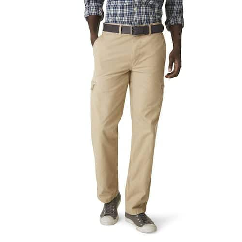 Kohls Cardholders: Men's Dockers Crossover D3 Classic-Fit Flat-Front Cargo Pants 3 for $35 ($11.67 each) + free shipping