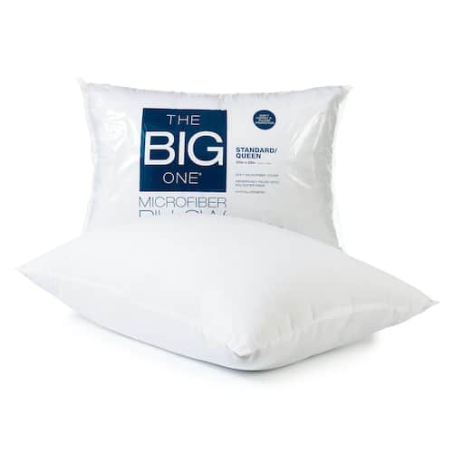 The Big One Microfiber Pillow $2.55, Gel Contour or Side Sleeper Memory Foam Pillow $12.75 + free store pickup at Kohls
