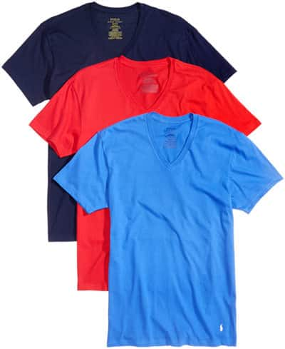 fd0c8a2e8d 3-Pack Polo Ralph Lauren Cotton T-Shirts (Crew or V-Neck ...