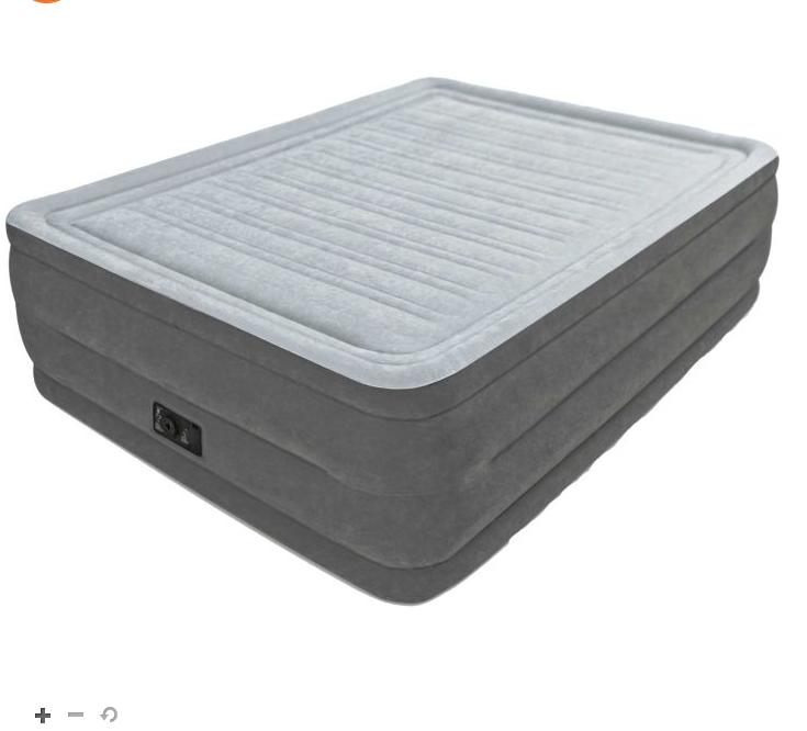 22 intex comfort plush queen air mattress with built in pump. Black Bedroom Furniture Sets. Home Design Ideas