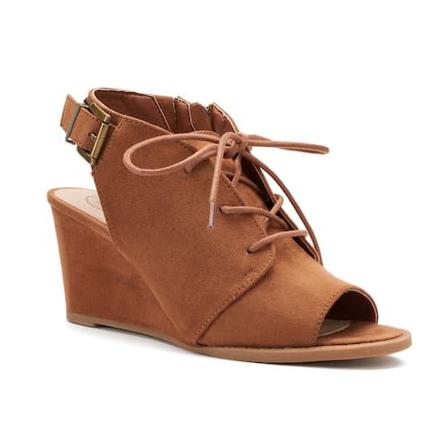 f815882675d Kohls Cardholders: SO Women's Wedge Ankle Boots (cognac) $8.40 ...