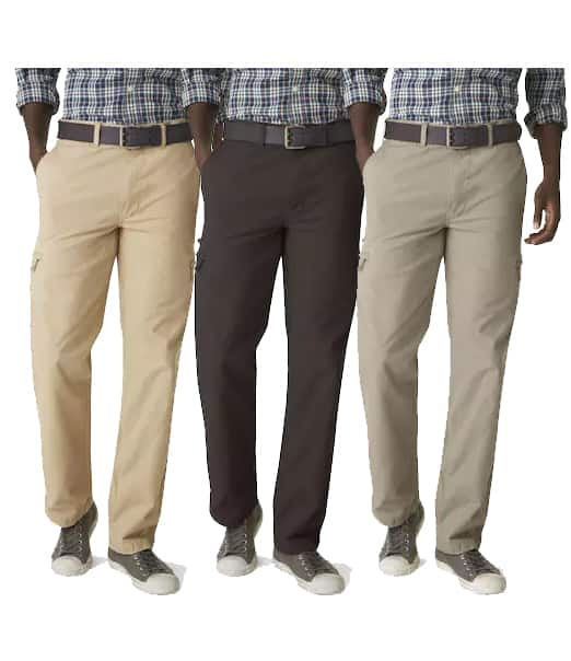 82e0d91c Kohls Cardholders: Men's Dockers Crossover D3 Classic-Fit Flat-Front Cargo  Pants 3 for $35 ($11.67 each) + free shipping