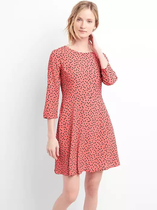 Gap Stacking Coupons: Women's Fit and Flare Dress $10, Men's Khakis w/ GapFlex $17.50, More + free shipping on $50 (pre discount)
