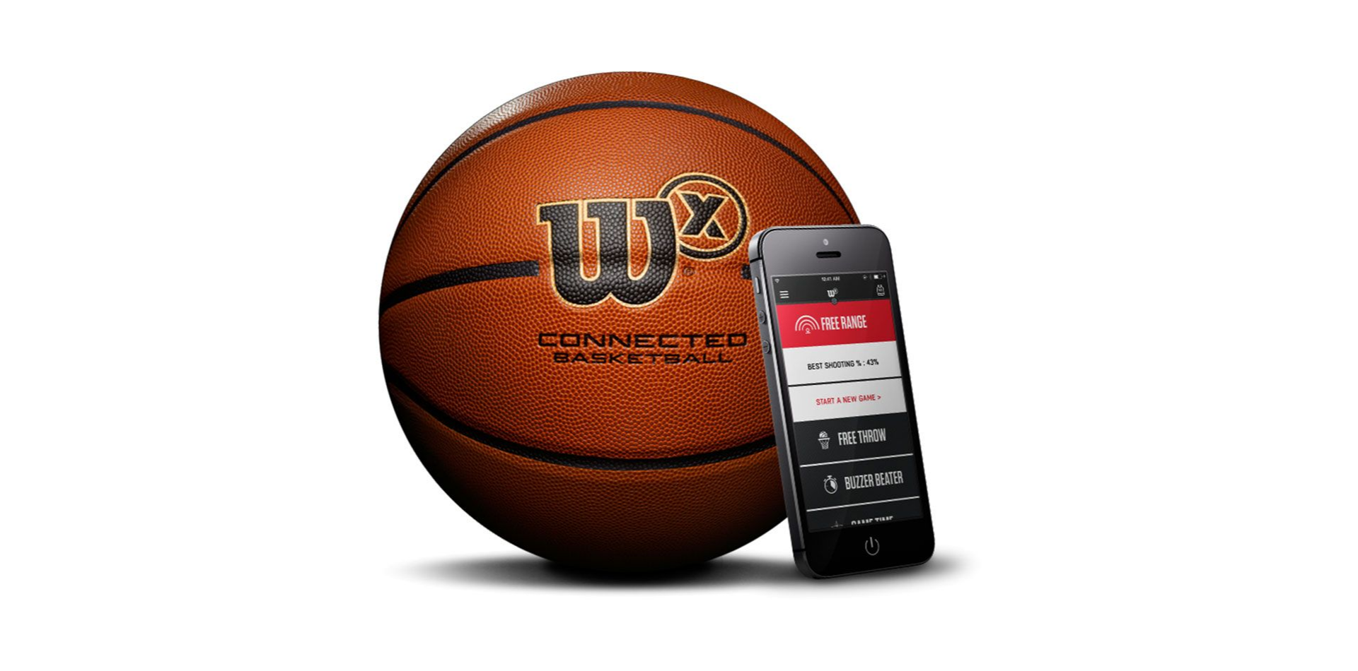 "28.5"" Wilson X Connected Smart Basketball $64 + free shipping"