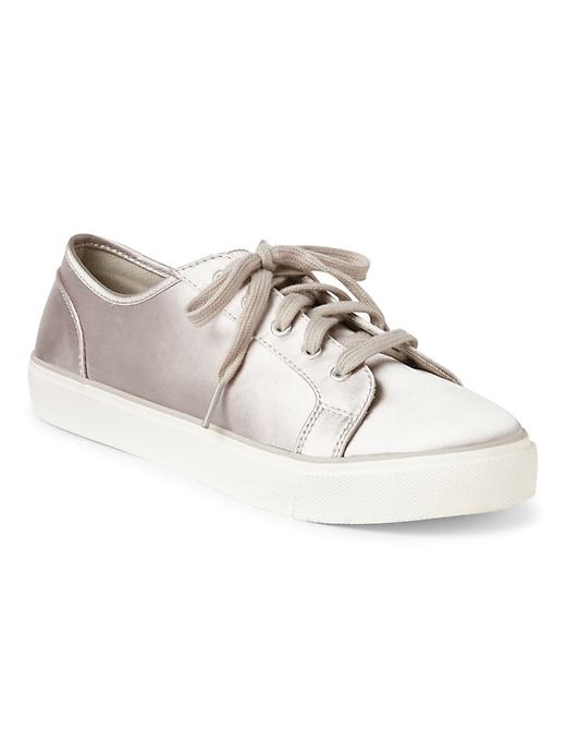 01166c14b8 Gap: 40% Off + 10% Off: Women's Satin Sneakers (Grey or Pink ...