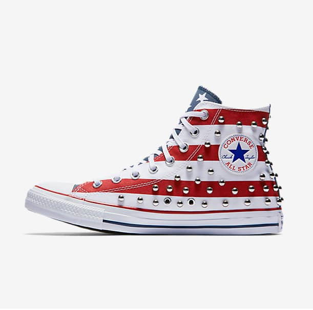 5342f5bd56b93 Converse Chuck Taylor All Star Studded Americana High Top $35, More + free  shipping