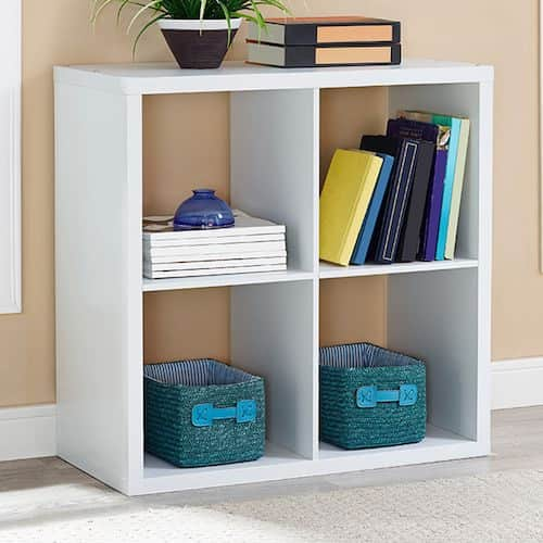 Deal Image & 4-Cube Storage Cube Storage Unit (Espresso White or Gray ...