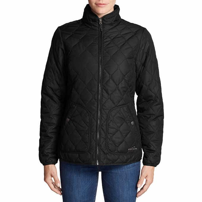 Eddie Bauer Ladies' Quilted Jacket $21 + free shipping ($20 for costco members)