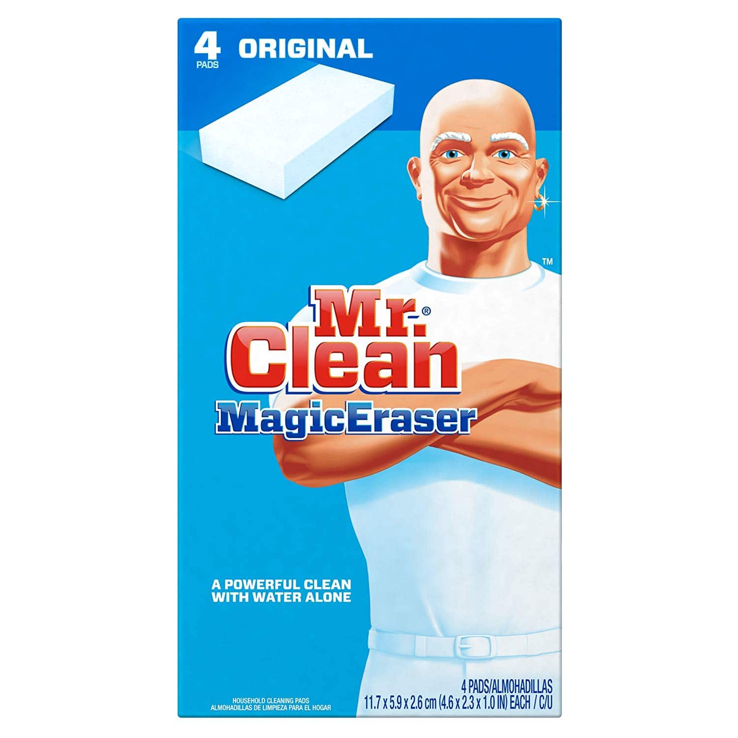 Mr. Clean Magic Eraser Multi-Surface Cleaner, Original, 4 Count $2.50 + free shipping with prime (temp backordered)