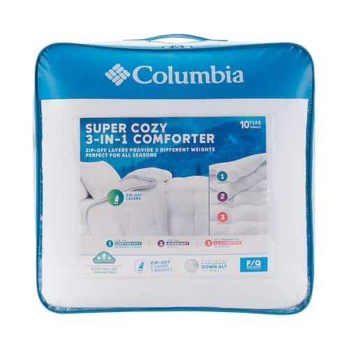 Columbia 3-In-1 Down Alternative Comforter w/ Zip Off Layers + $10 Kohls Cash $50 + free store pickup at Kohls