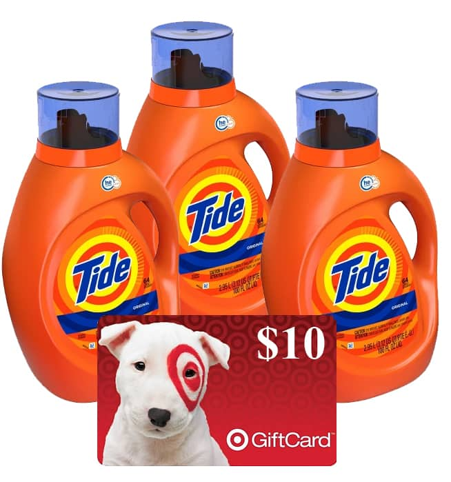 3-Pack 100oz Tide Liquid Laundry Detergent + $10 Target eGift Card $34.70 w/ Subscription ($33.45 w/ Redcard) + Free Store Pickup