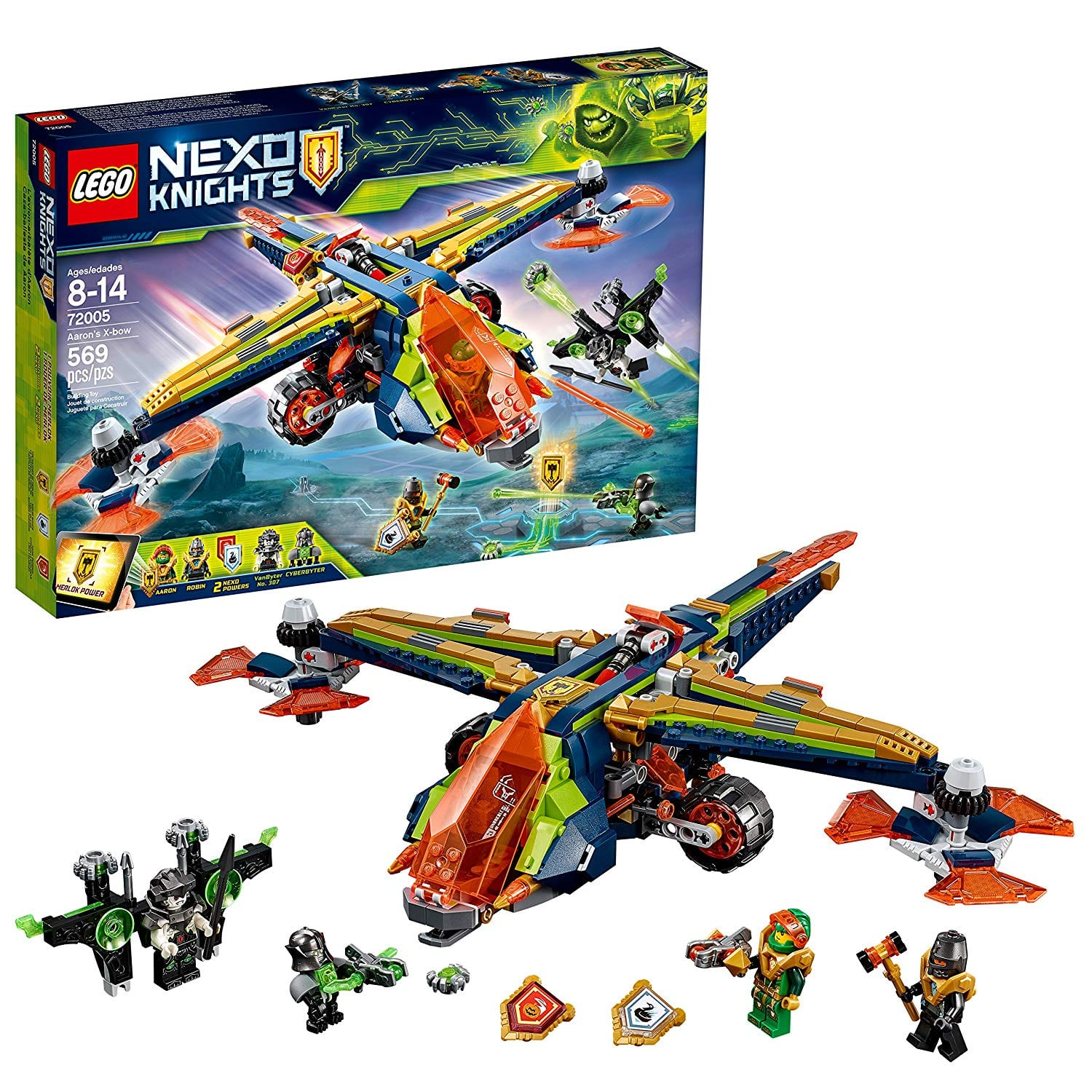 569-PC LEGO Nexo Knights Aaron's X-bow (72005) $30 + free shipping for Kohls cardholders