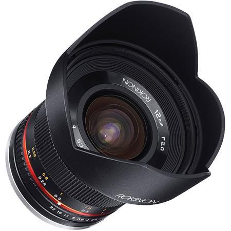 Rokinon 12mm F2.0 NCS CS Manual Focus Ultra Wide Angle Lens (Sony E, Canon M, Micro 4/3rds) $249 + free shipping