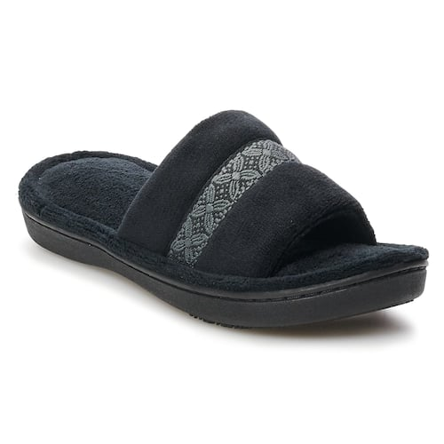 Kohls Cardholders: Women's Isotoner Jenny Microterry Slide Slippers $7 + free shipping or store pickup