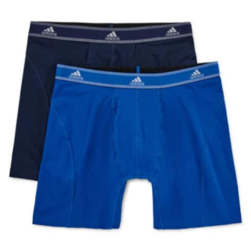 adidas Men's Performance Boxer Briefs 8 for $28 ($3.50 each) + 2-Pack Free Graphic Tees + free store pickup at JCPenney
