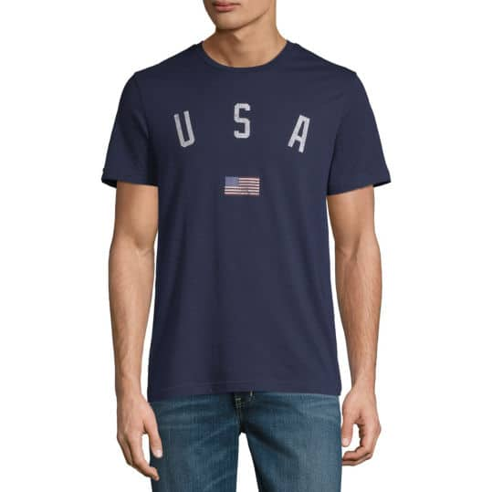 City Streets Men's Crew Neck Short Sleeve Americana Graphic T-Shirt 5 for $15 ($3 each) + Free Store Pickup at JCPenney
