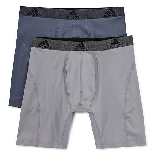 adidas Men's Performance Climalite Boxer Briefs 8 for $30 (S, XL Only, $3.75 each) + free store pickup at JCPenney