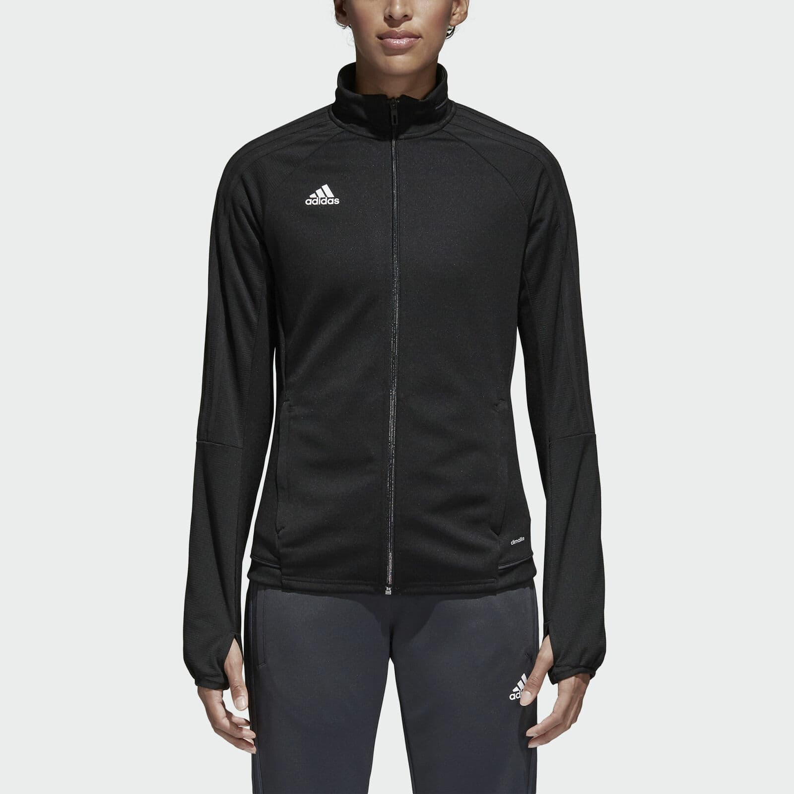 adidas Women's Tiro 17 Training Jacket $16, adidas Women's Core 18 Rain Jacket $20, More + free shipping