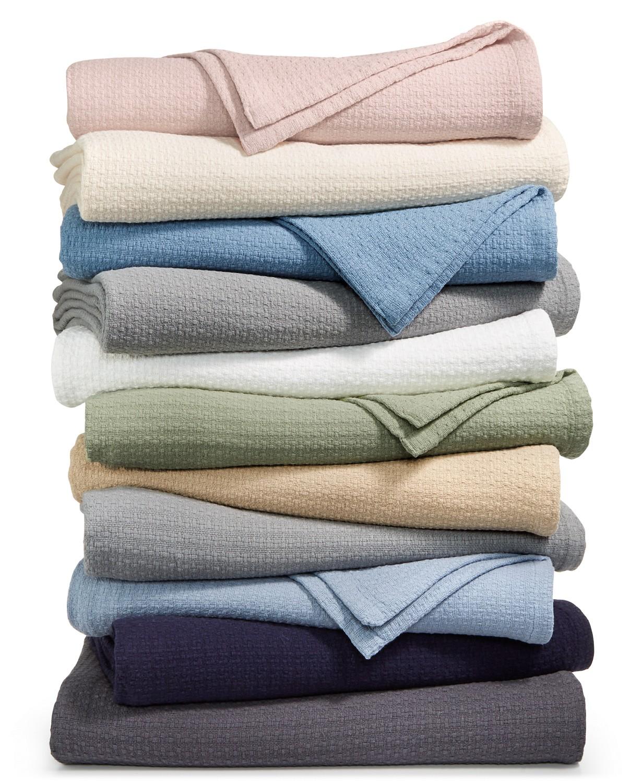 Lauren Ralph Lauren Classic 100% Cotton Blankets: King $30, Queen $24, Twin $18 (earn $10 Macys eGift Card on orders over $25 via SD rebate)+ Free store pickup at Macys