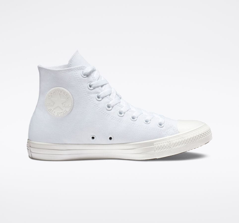 be208e6c6df28 Converse Chuck Taylor All Star Monochrome High Top or Low Top (White ...