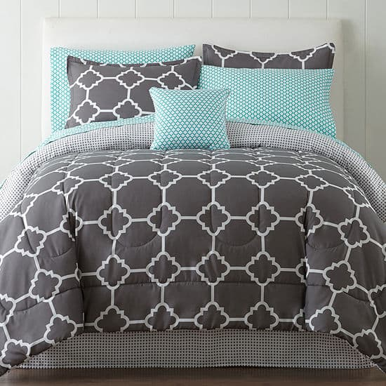 98f026131 8-Pc or 6-Pc Home Expressions Complete Comforter Set w/ Sheets ...