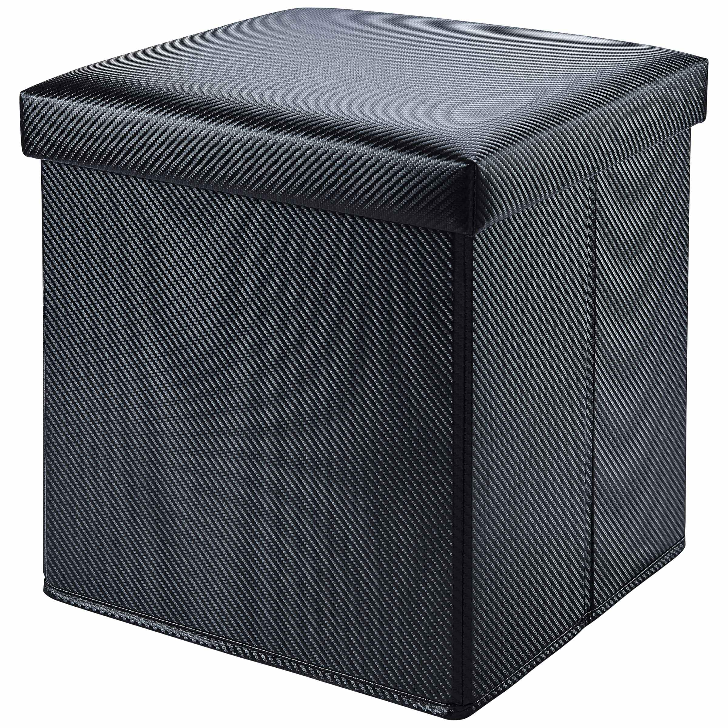 Mainstays Collapsible Storage Ottoman (Carbon Black) $8 + Free Store Pickup