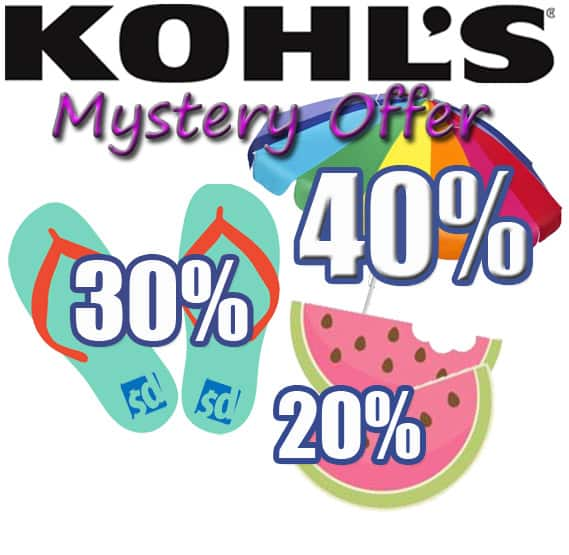 Kohls mystery coupon