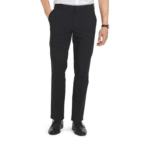 Van Heusen Men's Flex Straight Fit Flat Front Pant (black or eiffel tower) 2 for $25.20 ($12.60 each) + free store pickup at JCPenney