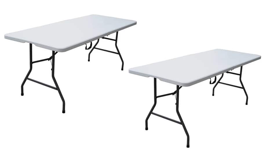 6' Folding Banquet Table 2 for $61 ($30.50 each) + free store pickup at Target