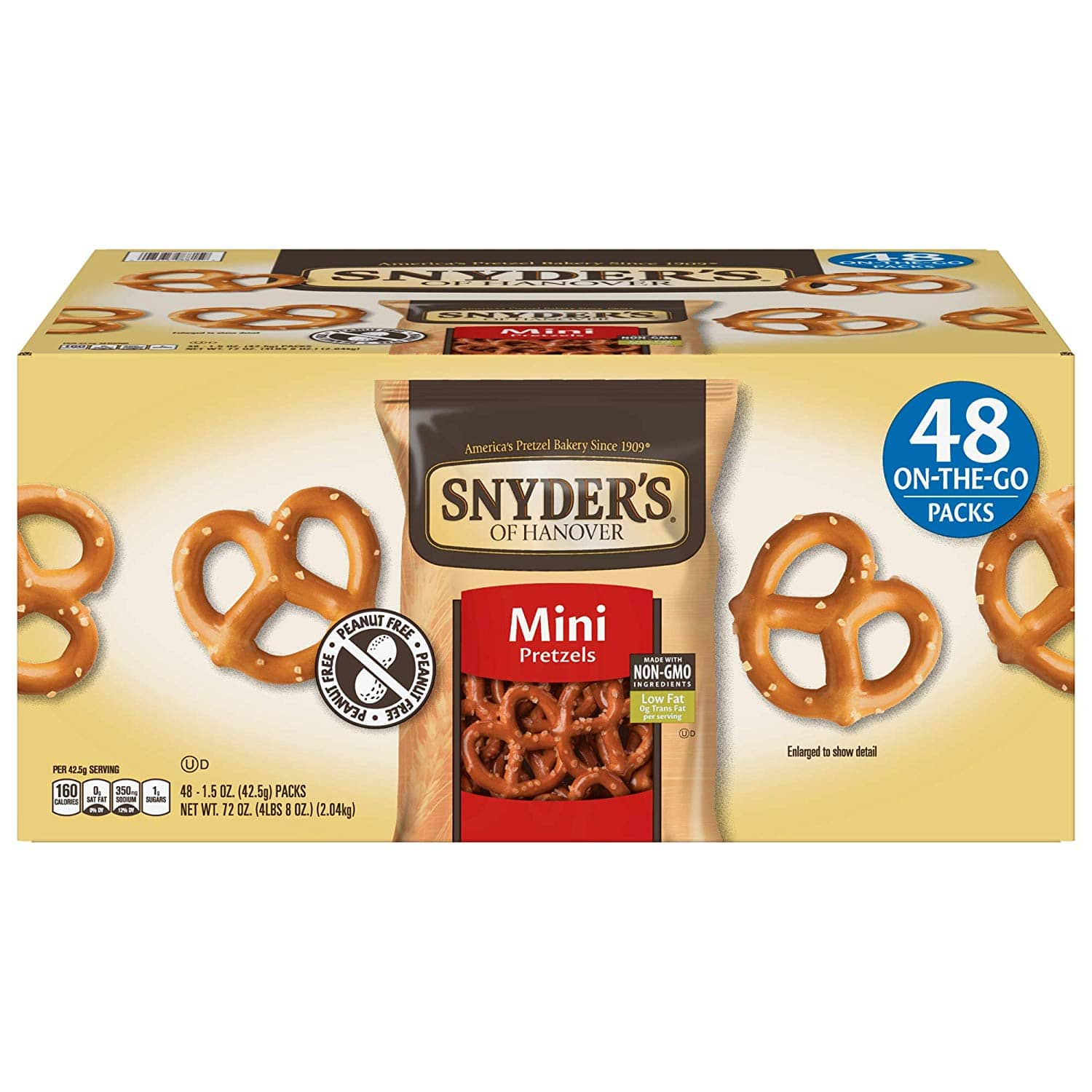 48-Ct Single Serve 1.5-Oz Snyder's of Hanover Mini Pretzels $9 + free shipping with S&S