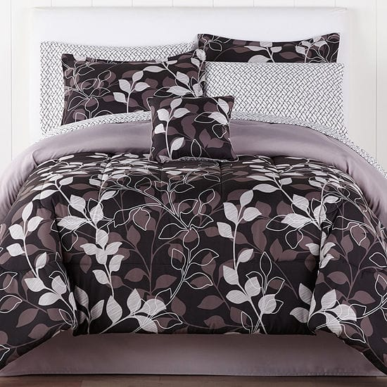 8-Pc or 6-Pc Home Expressions Complete Comforter Set w/ Sheets (various sizes) $35 + Free Store Pickup at JCPenney