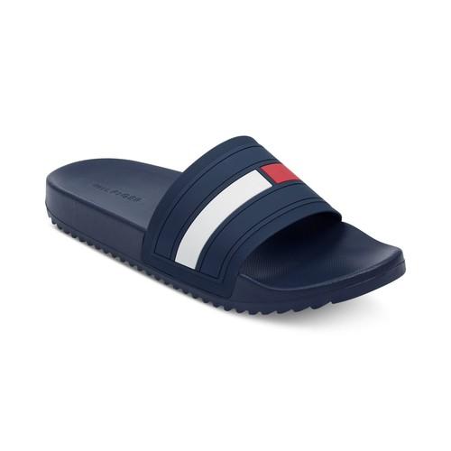 Tommy Hilfiger Men's Slide Sandals (various) $13.60, Tommy Hilfiger Men's Petes Boat Shoes $19.20, More + free store pickup at macys