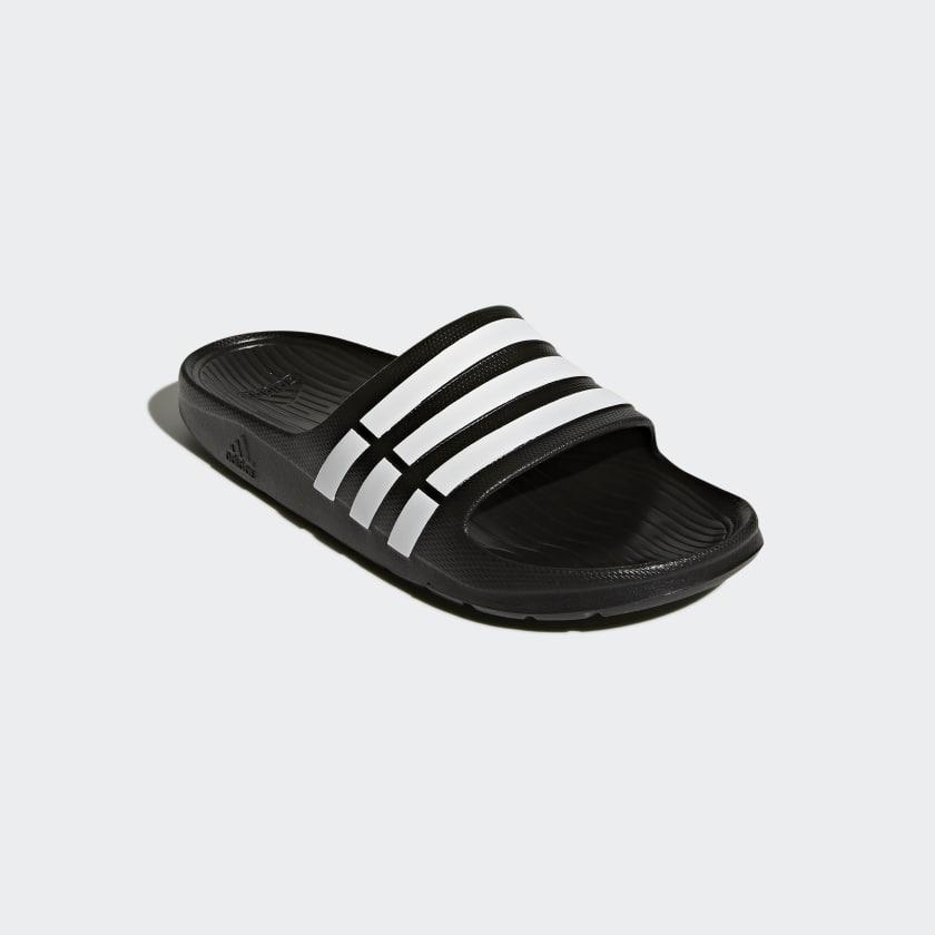 0acedcc7b8 adidas Men's Duramo Slide Sandals (Black, Limited Sizes ...