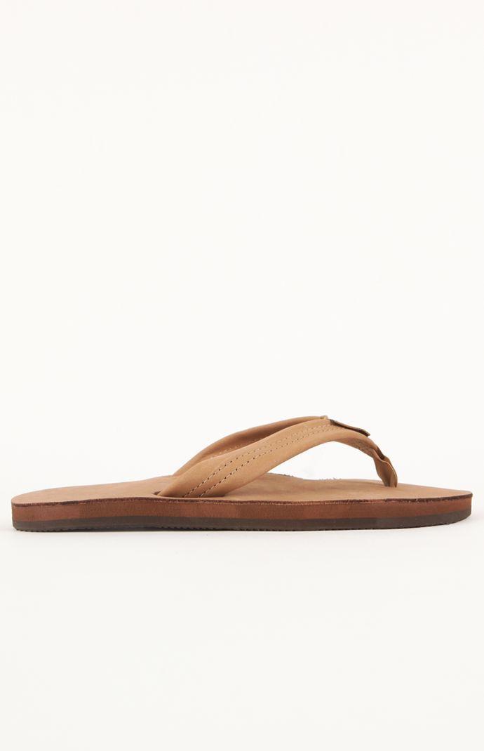 Rainbow Premier Men's Single Layer Flip Flops (tan or brown) $21.60 + free shipping