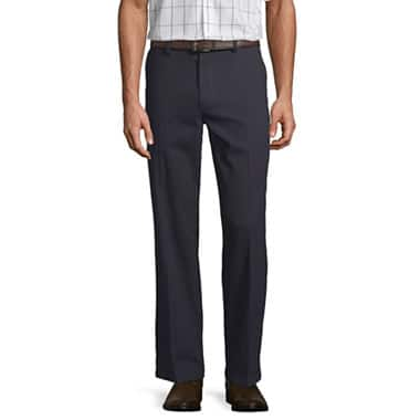 St. John's Bay Men's Easy-Care Classic Flat-Front or Pleated Pants $12.50 + free store pickup at JCPenney