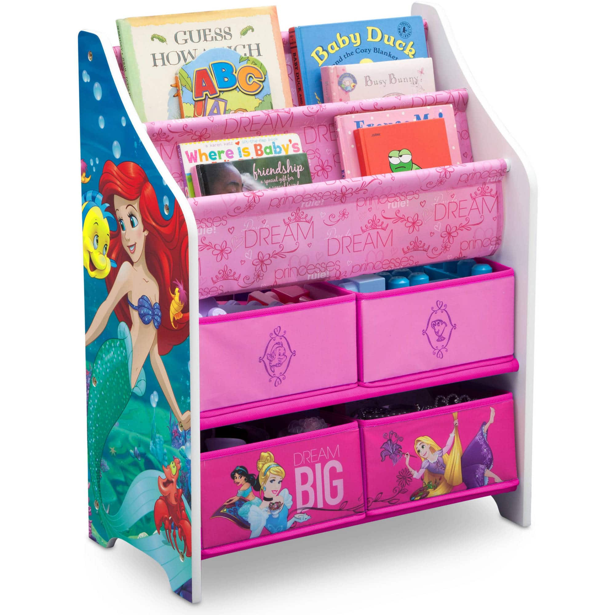 Disney Princess Book & Toy Organizer by Delta Children $20 + free pickup at Walmart