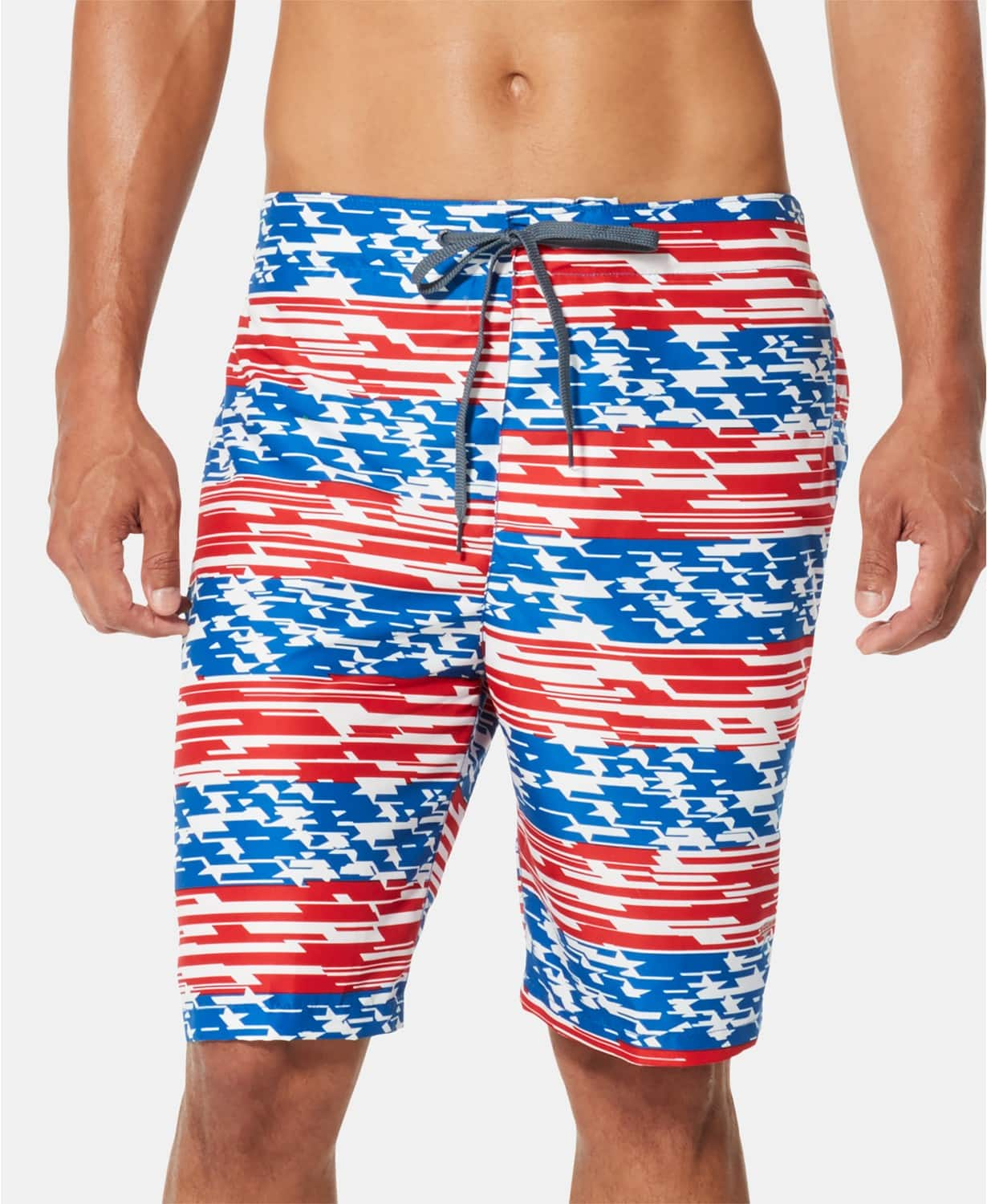 "Speedo Men's American Flag Stripe TurboDri 9"" E-Board Swim Trunks $8, Columbia Men's PFG Super Backcast Water Short $10, More + free ship to store at Macys"