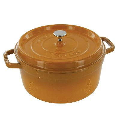 Staub Cast Iron 7-qt Round Cocotte (saffron) $145.75 + free shipping