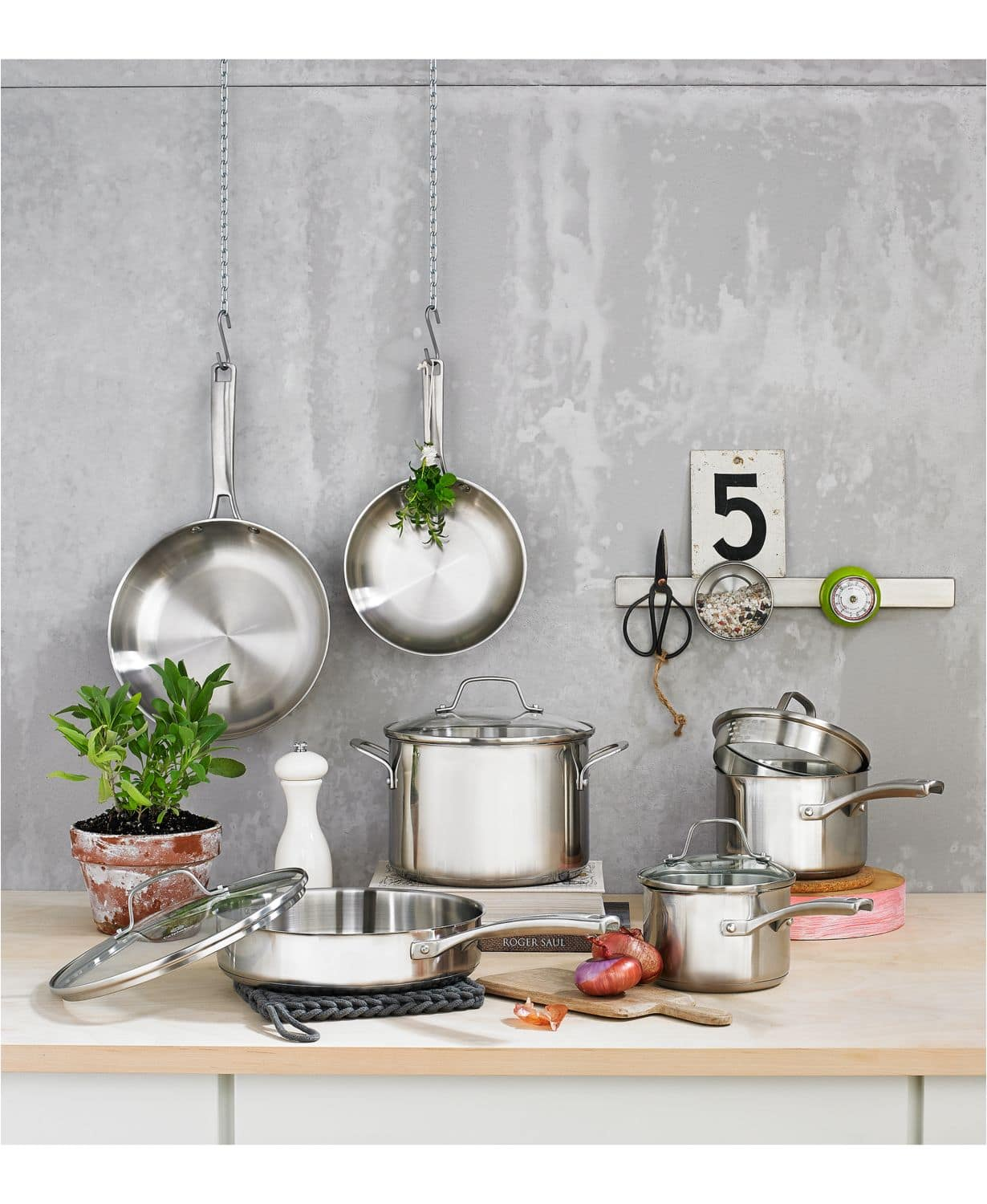 10-Pc Calphalon Classic Stainless or Nonstick Cookware Set + Bonus All-Purpose Pan w/ Lid $119 + free shipping