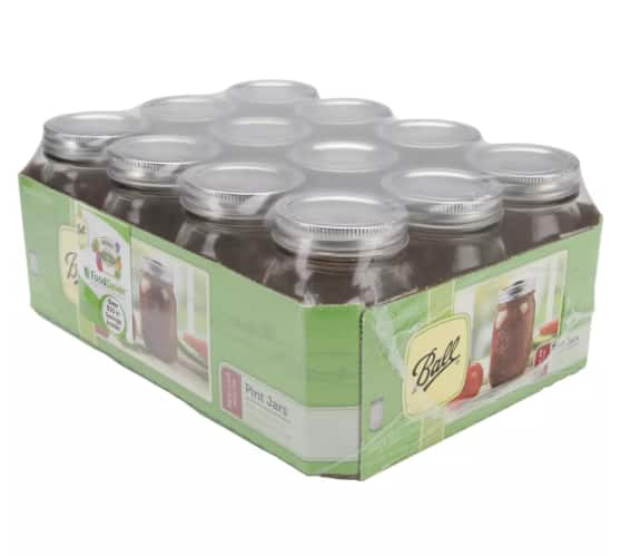 12-Pack Ball Regular Mouth Glass Canning Jars (pint) $6.40 & More + Free Store Pickup