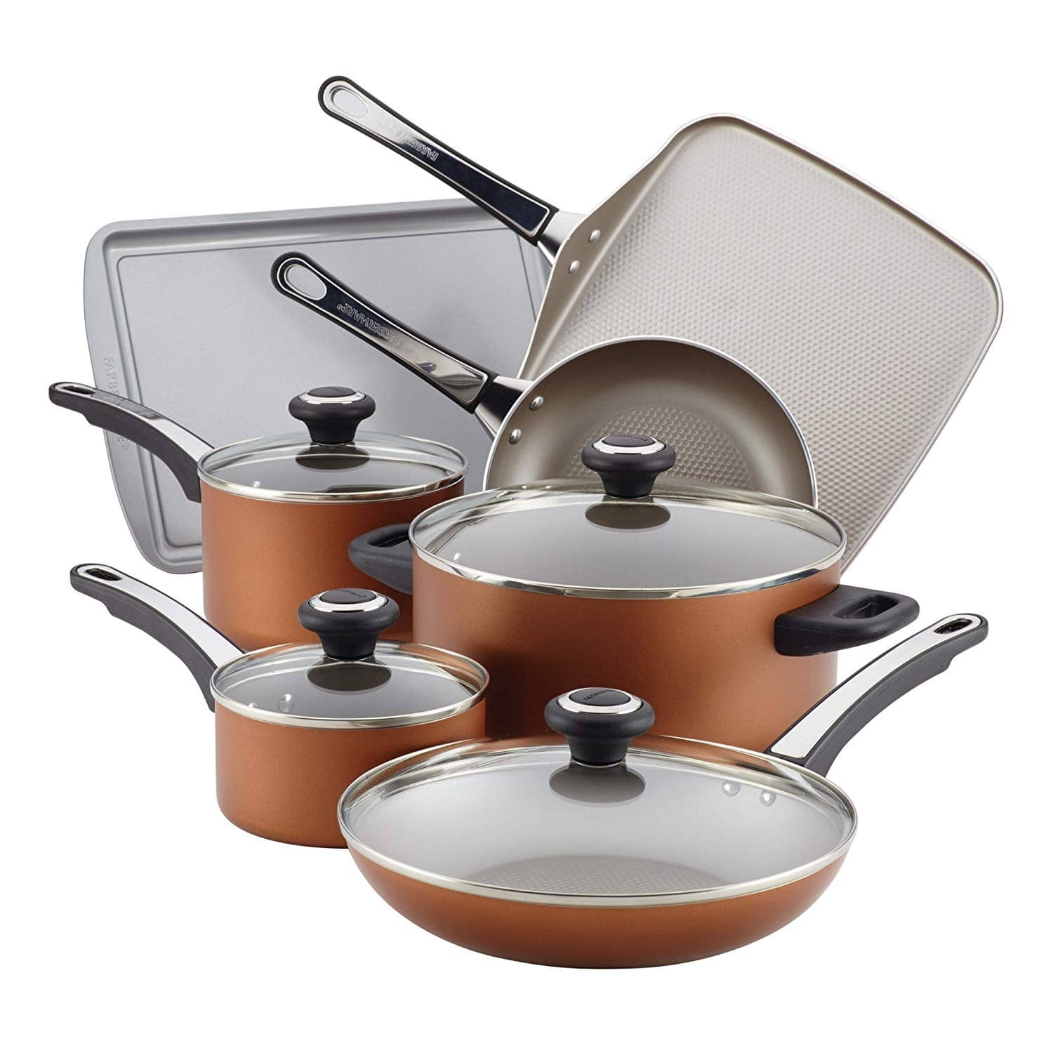 17-Piece Farberware Nonstick Cookware Set $34 + free shipping