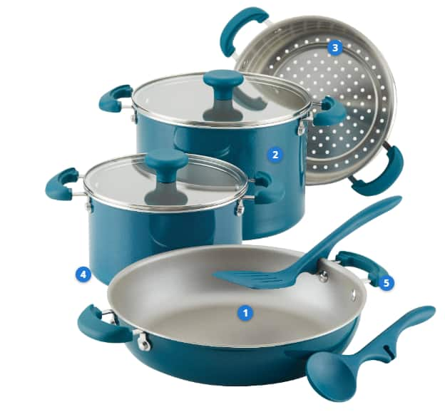 8-Piece Rachael Ray Create Delicious Stacking Cookware Set + $30 Kohls Cash $62 after rebate + free shipping