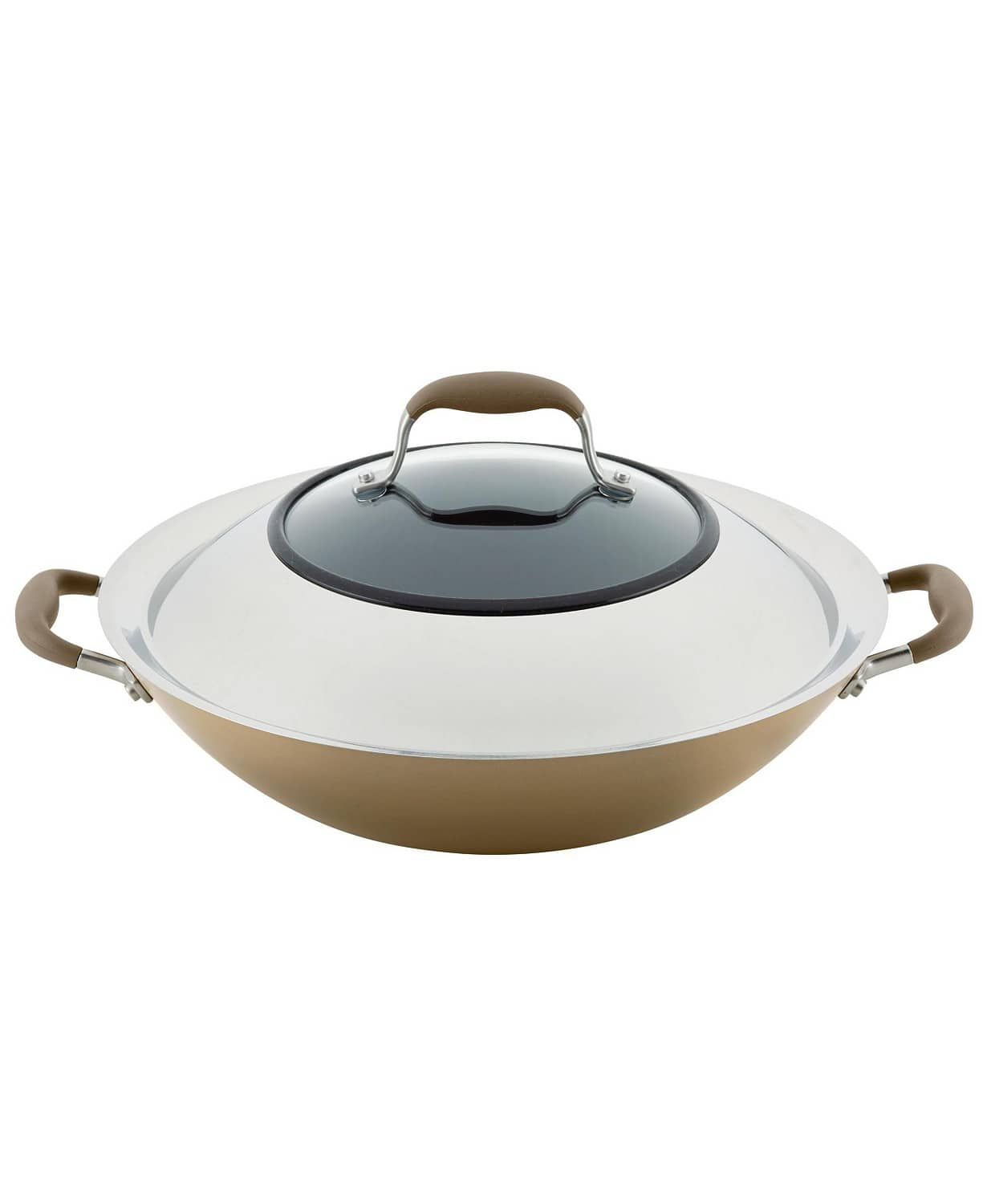 "Anolon Advanced Home Hard-Anodized 14"" Nonstick Wok + Anolon Slotted Turner $31, More + Free shipping"